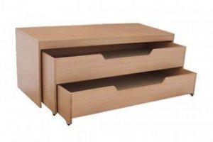 Кровать 2-ярусная выкатная с тумбой - Мебельная фабрика «Alicio»