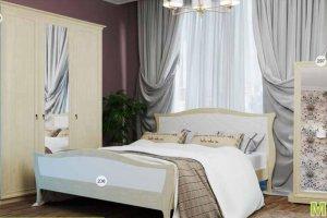 Кровать 236 Спальня МК 57 - Мебельная фабрика «Корвет»