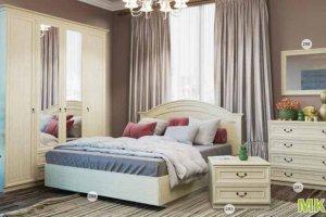 Кровать 294 Спальня МК 57 - Мебельная фабрика «Корвет»