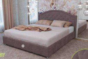Кровать 295 Спальня МК 57 - Мебельная фабрика «Корвет»