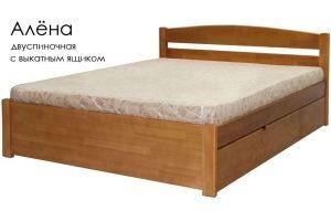 Кровать Алёна из массива сосны - Мебельная фабрика «Массив»