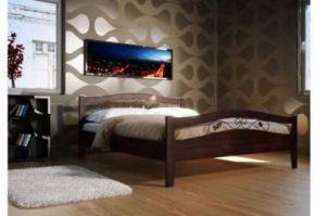 Кровать Алиса  с элементами ковки - Мебельная фабрика «Верба-Мебель»