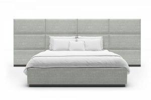Кровать B-05 с большим изголовьем - Мебельная фабрика «Новый век»