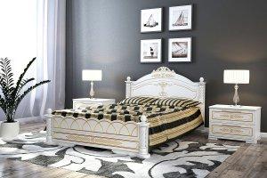 Кровать белая Александра - Мебельная фабрика «DM- darinamebel»