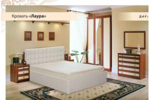 Кровать белая Лаура - Мебельная фабрика «Дарди»