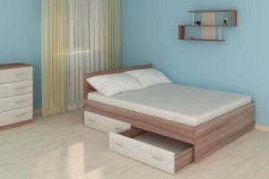 Кровать Бланка с ящиками - Мебельная фабрика «Трио мебель»