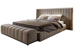 Кровать Бостон с пуфом - Мебельная фабрика «Black & White»