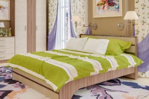 Кровать ЛДСП Браво 140 - Мебельная фабрика «Пирамида»