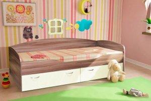 Кровать с ящиками ЛДСП Бриз - Мебельная фабрика «ДиВа мебель»