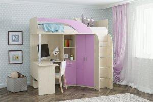 Кровать-чердак для девочки - Мебельная фабрика «СВК»