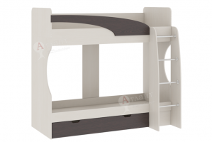 Кровать-чердак 2х этажная Карамель 77-02 - Мебельная фабрика «Атлант»