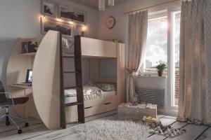 Кровать-чердак Анеси 1 - Мебельная фабрика «ИнтерЛиния»