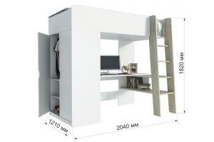 Кровать-чердак Анеси-1 - Мебельная фабрика «ИнтерЛиния»