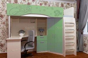 Кровать-чердак Бемби 7 Русалочка - Мебельная фабрика «НАРУС»