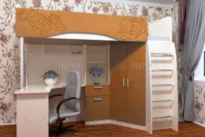 Кровать-чердак Бемби 7 Тигр - Мебельная фабрика «НАРУС»