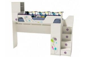 Кровать-чердак Цветы-4 - Мебельная фабрика «Династия»