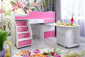 Кровать-чердак детская Малыш 6 - Мебельная фабрика «ЯРОФФ»