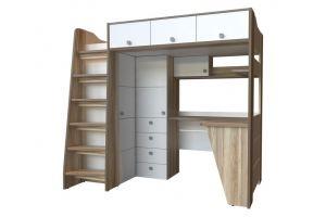 Кровать-чердак для подростков КОНЦЕПТ - Мебельная фабрика «Порта»