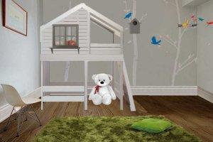Кровать-чердак Домик под звездами - Мебельная фабрика «Mom'sLove»
