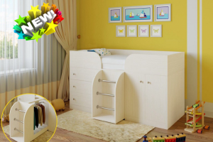 Кровать-чердак Гномик - Мебельная фабрика «Гамма-мебель»