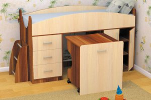 Кровать детская Гуфи - Мебельная фабрика «Пирамида», г. Краснодар
