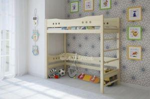 Кровать чердак Легенда 19 со шведской стенкой - Мебельная фабрика «Легенда»