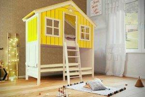 Кровать-чердак Лесная хижина - Мебельная фабрика «Mom'sLove»