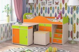 Кровать-чердак Малыш Люкс - Мебельная фабрика «ЯРОФФ»