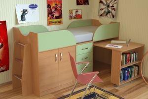 Кровать-чердак низкая Карлсон - Мебельная фабрика «Крафт»