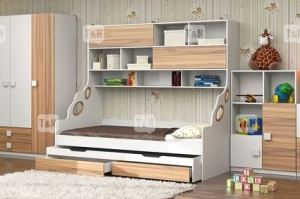 Кровать чердак Pinny Oak - Мебельная фабрика «ТомиНики»