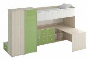 Кровать-чердак Play 11 green - Мебельная фабрика «ОГОГО Обстановочка!»