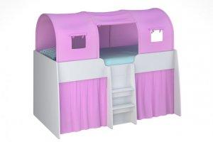 Кровать-чердак Polini Simple для девочки - Мебельная фабрика «Воткинская промышленная компания»
