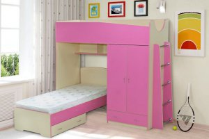Кровать-чердак Радуга-5 - Мебельная фабрика «Уютный Дом»