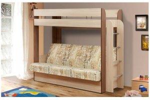 Кровать-чердак с диваном для детей - Мебельная фабрика «Нильс»