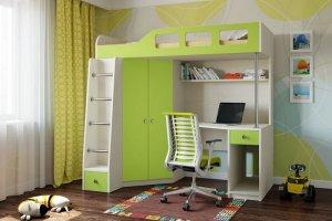Кровать-чердак Teens home - Мебельная фабрика «Крафт»