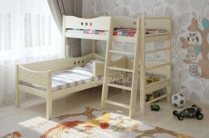 Кровать чердак со шведской стенкой Легенда 17.1 - Мебельная фабрика «Легенда»