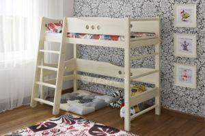 Кровать чердак со шведской стенкой Легенда 17 - Мебельная фабрика «Легенда»