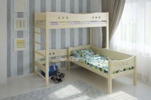 Кровать чердак со шведской стенкой Легенда 19.1 - Мебельная фабрика «Легенда»