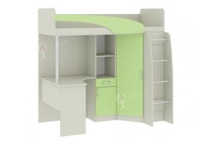 Кровать-чердак со столом Карамель 77-01 - Мебельная фабрика «Атлант»
