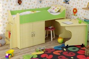 Кровать-чердак светлый Карлсон - Мебельная фабрика «Крафт»