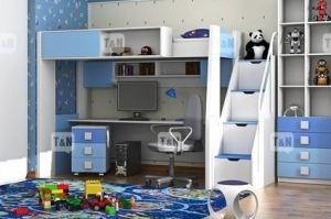 Кровать чердак Tommy Blue - Мебельная фабрика «ТомиНики»