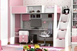 Кровать чердак Tommy Pink - Мебельная фабрика «ТомиНики»