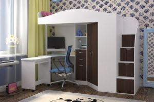 Кровать чердак Юниор 4 - Мебельная фабрика «ЯРОФФ»