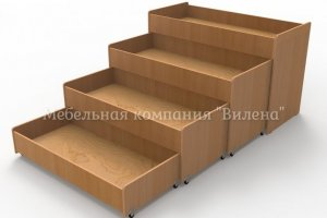 Кровать четырёхъярусная без тумбы - Мебельная фабрика «Вилена»