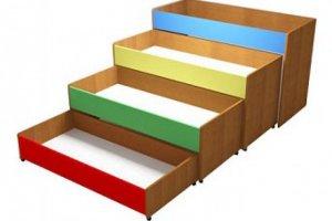 Кровать четырехъярусная выкатная - Мебельная фабрика «Alicio»