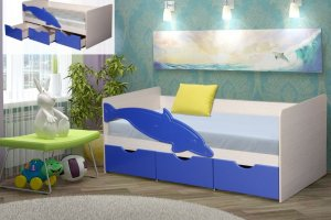 Кровать с ящиками МДФ Дельфин - Мебельная фабрика «ДиВа мебель»