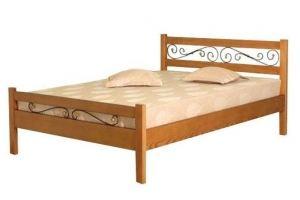 Кровать деревянная Венеция ковка - Мебельная фабрика «Святогор Мебель»
