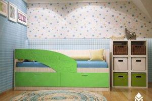Кровать детская Бабочки - Мебельная фабрика «Северин»