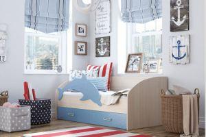 Кровать детская Дельфин-2 МДФ - Мебельная фабрика «Террикон»