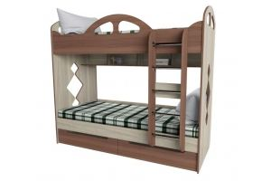 Кровать детская двухъярусная КД-2 - Мебельная фабрика «Квадрат»